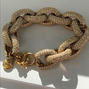 J.Crew Pave chain bracelet